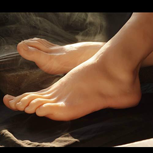 Männliche Füße Modell Silikon Schaufensterpuppe Fuß Für Schuh Socken Display Shooting Lehre Der Pediküre Medizin Malerei Schmuck Skizze, 1 Paar