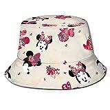 Mi-ckey-Mouse Sombrero de Pescador Sombrero para el Sol - Protección Ultravioleta y Transpirable Gorra de Cubo de ala Ancha para Exteriores