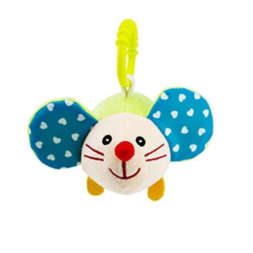 Kinderwagen Spielzeug, Isuper Kleinkind Autositz Anhänger Puzzle Spielzeug für Babys und Kleinkinder Plüschtier Spielzeug (Hamster)