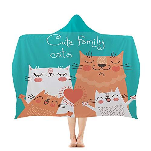 BSSDG Toalla Playa Kitty Series Beach Hoodie Towel Toallas Divertidas Wearable Swim Wrapc, HBT010,1,150x200cm