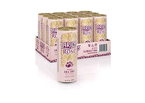 Larios Rosé & Tonic Dose Gin, EINWEG (12 x 0.25 l)
