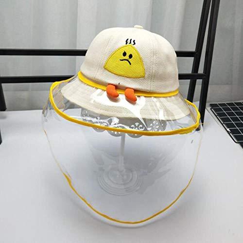 SVY kinderen zonnehoed anti-spitting beschermkap kinderen uit speeksel stofdichte hoezen tegen druppelverspreiding voorkomen zon hoeden