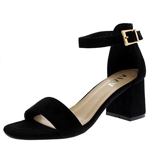 Damens Sandale Ausgeschnitten Offener Zeh Kaum Da Fesselriemen Fersen - Schwarz - 39 - KL0132