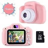 TekHome Cámara de Fotos para Niños con Juegos, 32GB Tarjeta SD y...