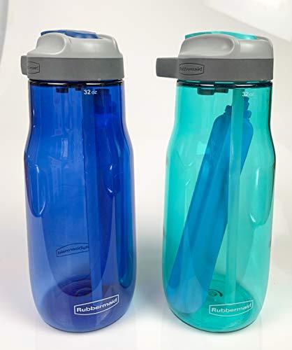 Rubbermaid Water Bottle Lock Lid - Leak-Proof Reusable Container - Comes...
