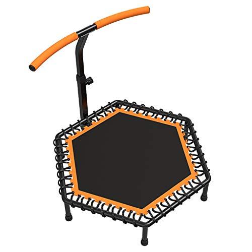 Messeneuheit 2020! Fitness-Trampolin mit Bar - Ideal for Heim Cardio Workout - Training - Silent Bounce - Ø 122 cm - Maximallast 150 kg (Benutzergewicht) Fun Way, Gewicht zu verlieren und fit!