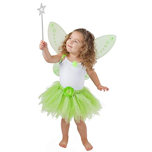 Tinkerbell Costume for Toddler Tinkerbelle Birthday Party and Dress Up, Green, Small 1T-2T