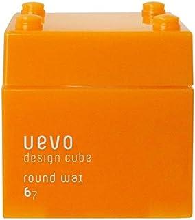 ウェーボ デザインキューブ (uevo design cube) ラウンドワックス 80g ヘアワックス 80グラム (x 80)