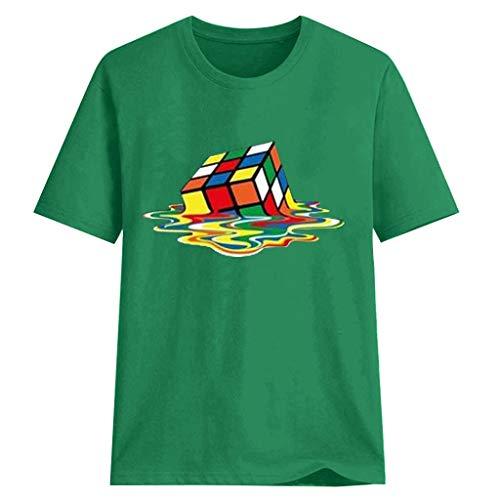Rubik 's Cube Graphic Tees&Tops Manga Corta Casual Mujeres Big Bang Teoría Tee Streetwear Algodón Camisetas