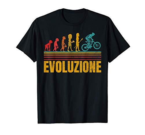 MTB Mountain Bike Uomo Divertente Evoluzione Bici Regalo Maglietta