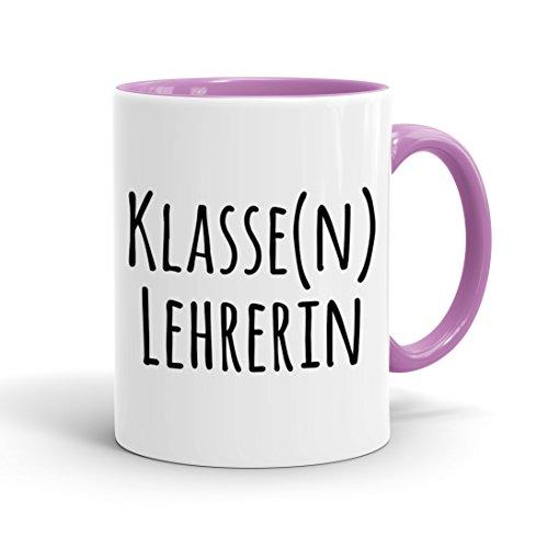 True Statements Tasse Klasse Lehrerin - Kaffeetasse, Kaffeebecher, das ideale Geschenk für Mitarbeiter, fürs Büro, Arbeit und Co, inner rose