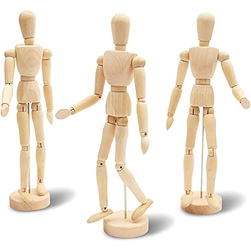 Le Juvo Posable, Moveable Drawing Mannequin, Wooden Figure Model (13...