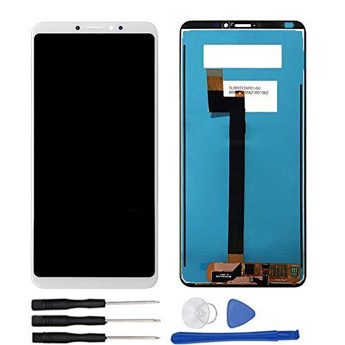soliocial Asamblea Pantalla LCD Pantalla Táctil Vidrio para Xiaomi Mi MAX 3 MiMax 3 M1804E4A / M1804E4C Blanco