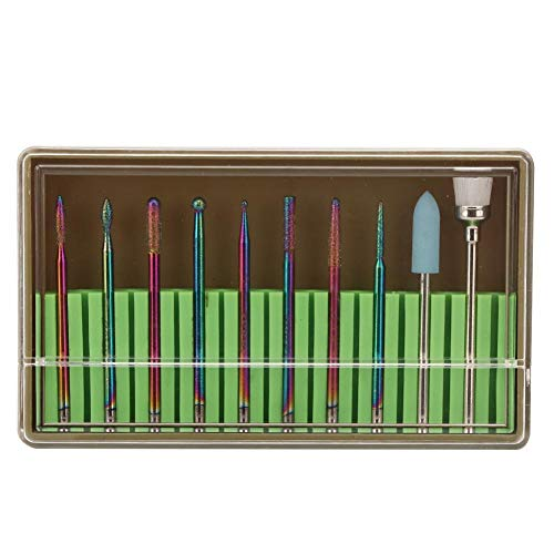 10st nail art boor kit, diamant slijpkop nail art boor polijstkop kit nagel boormachine accessoires nagel polijstmachine onderdelen accessoire