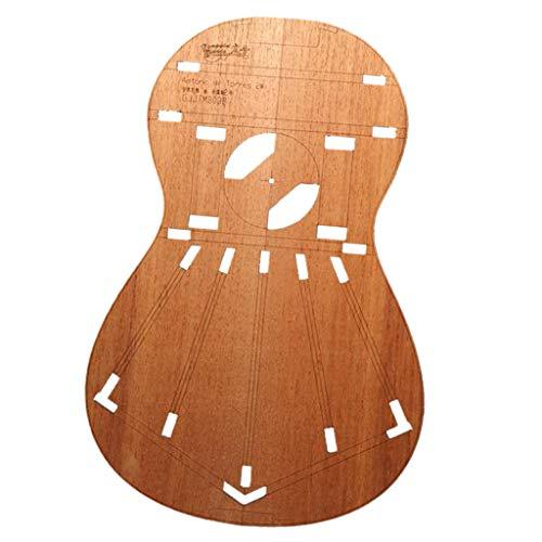 perfeclan Plantillas de Cuerpo de Guitarra Clásica Madera para Torres 2 (Grueso)