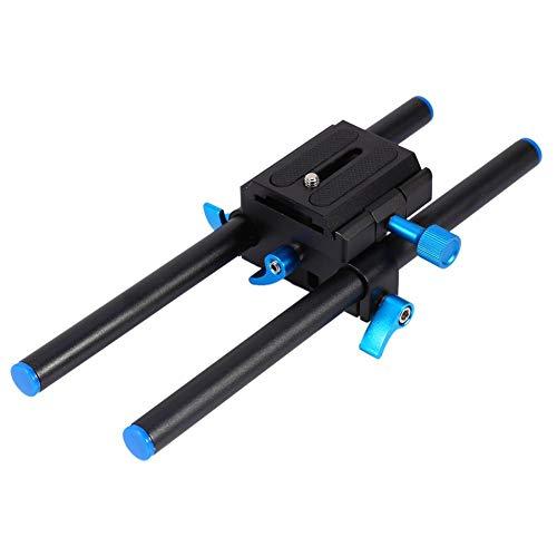 Sistema di supporto per asta di binario portatile da 15 mm con slitta per montaggio su videocamera morbida con imbottitura in gomma morbida e impugnat