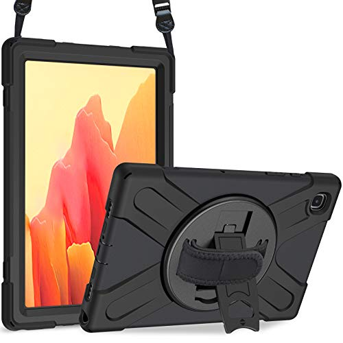 "ProCase Funda para Galaxy Tab A7 10.4"" 2020 Modelo T500 T505 T505N T507 con Soporte para S Pen, Bumper Rugoso 360° Rotativo Asa de Mano, Carcasa Robusta Antichoque para Galaxy Tab A7 10.4 Inch –Negro"