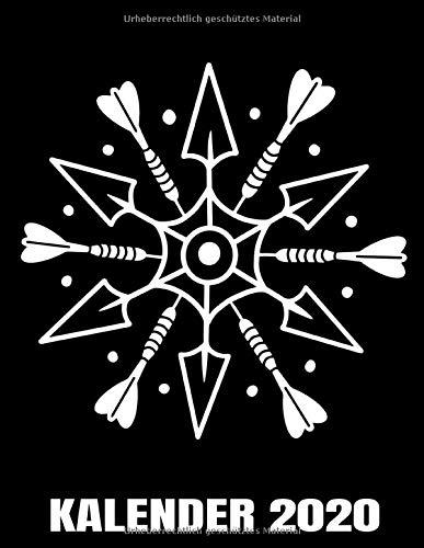 Kalender 2020: Darten - Dartspieler - Süße Darts Schneeflocke Kalender Terminplaner Buch - Jahreskalender - Wochenkalender - Jahresplaner