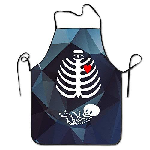 Küche Schürzen,Halloween Mutterschaft Schwangerschaft Xray Restaurant Schürze Lustige Druckküche Schürze Für Home Grillen BBQ,52x72cm