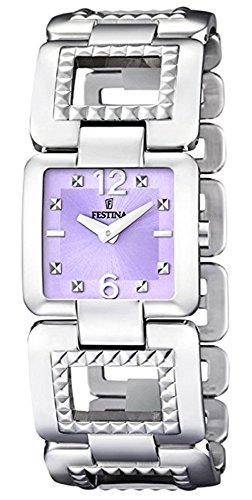 Festina F16552/3 - Reloj de Pulsera para Mujer (Mecanismo de Cuarzo, analógico, Acero Inoxidable)