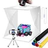 Carpas para sesión de Fotos Caja de luz para fotografía Regulable portátil 30cm Caja de iluminación LED Plegable para Estudio fotográfico con 6 Colores de Fondo