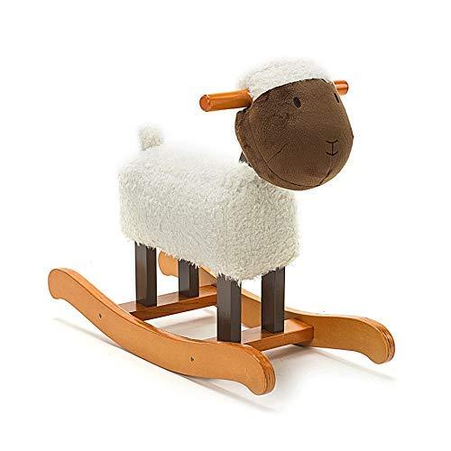 La mano de obra de primera clase brinda una divers Caballo de rocas de animales Trojan Toy Toy Rocking Silla de bebé Carro de niños Carrito para niños para cumpleaños Regalo infantil ( Color :