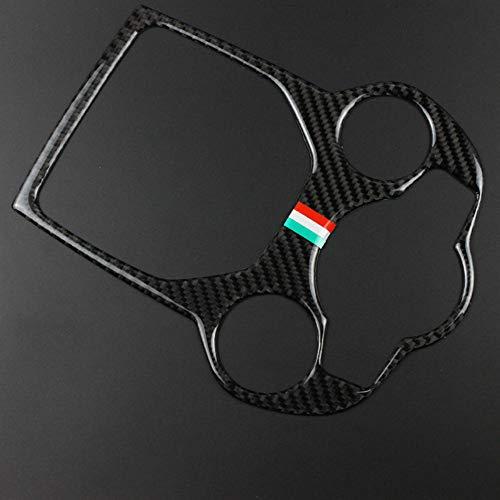 Kohlefaser Auto Central Gear Paddle Panel Abdeckung Aufkleber Auto Styling, für Alfa Romeo Giulia Stelvio 2017-2020 Zubehör (A)
