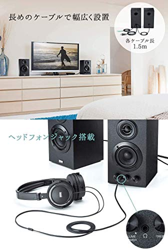 サンワダイレクトPC・テレビスピーカー<木製>16Wステレオ高音質ブックシェルフ型400-SP068