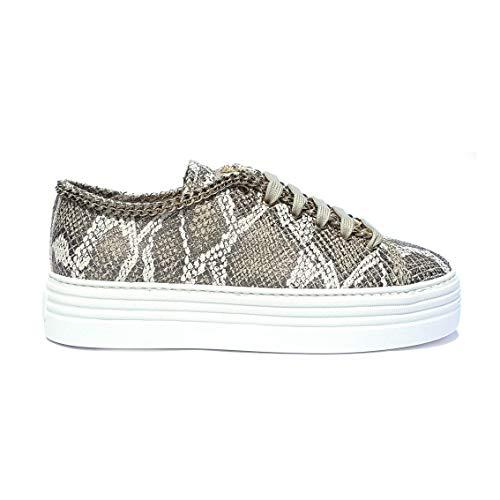 Stokton - sneaker taupe con catena stokton - 39
