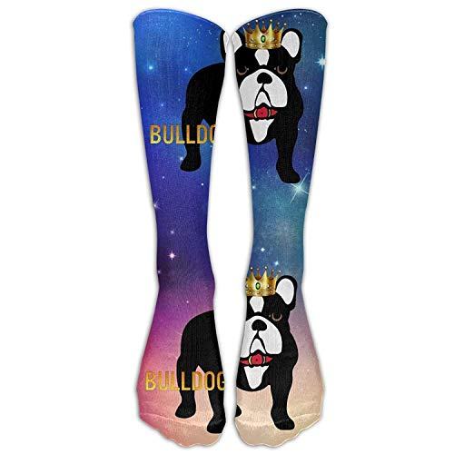 Bulldog Puppy Casual Unisex Sock Knee Long High Socks Sport Athletic Crew Socks...