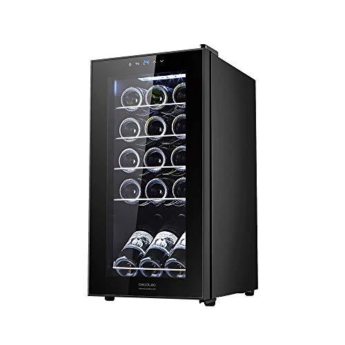 Cecotec Vinoteca GrandSommelier 15000 Black Compressor. 15 Botellas, Compresor, Alto Rendimiento garantizado, Temperatura Regulable, Clase de eficiencia energética A