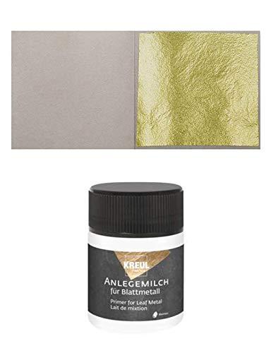 10 Blatt Echtes Blattgold 23,75 Karat 38 x 38 mm Echtgold Speisen Essbar + 1 x Anlegemilch 50ml
