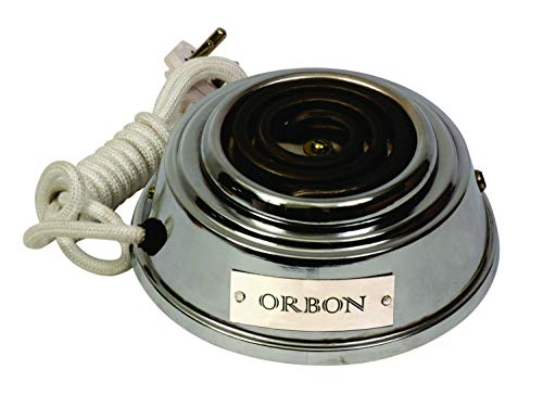 ORBON Baby 500 Watts Electric Cooking Heater |Hookah Coal Burner | Electric Coil Cooking Stove | Induction Cooktop | Coil Hot Plate Cooking Stove | Compact Stove | Works with All Cookwares (Silver)