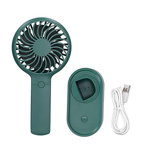 Zerodis Mini Ventilador de Escritorio, Ventilador eléctrico portátil oscilante de 90 ° Ventilador oscilante de Carga USB con Ajuste de 3 velocidades para Uso en Viajes de Oficina en casa(Verde)