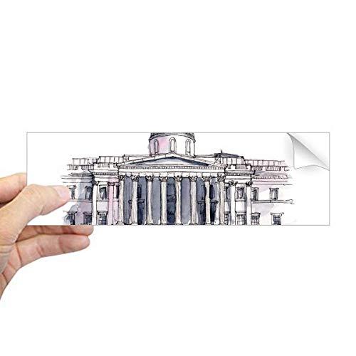 DIYthinker National Gallery in London Rechteck Bumper Sticker Notebook Window Decal