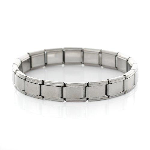 Starter Italian Charm 18 Link Bracelet 17.5 Cm (Plain Silver Tone)