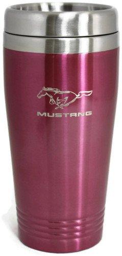 Auto-Gold Mustang Travel Mug Travel Coffee Mug Cup Stainless Steel Tea Mug Thermo - Pink