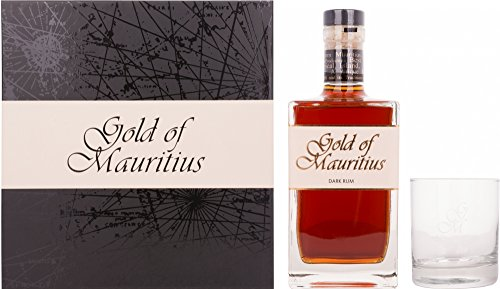 Gold of Mauritius Gold of Mauritius Dark Rum 40% Vol. 0,7l in Giftbox with glass - 700 ml