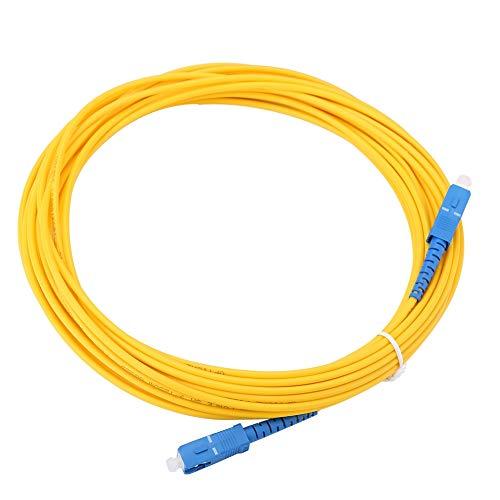 Tomantery Cable de conexión SC, Cables de Fibra óptica Cable de Puente...