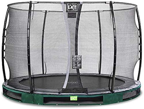 EXIT Elegant InGründ-Trampolin  cm mit Economy Sicherheitsnetz - Grün