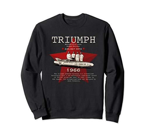 Jahrgang 1966 Triumph Motorrad Geschwindigkeitsrekord Sweatshirt