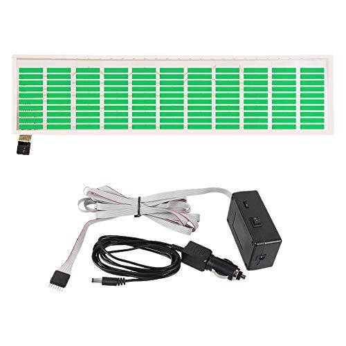 ACAMPTAR Ecualizador de Sensor Activado por Sonido de Luz de Flash de Ritmo de MúSica LED Verde de Coche Etiqueta Engomada del Parabrisas Trasero Kit de LáMpara de NeóN de Estilo