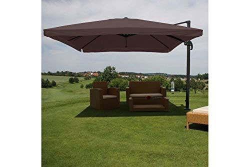 Schirm Sonnenschirm braun Alu 4,3m Gastro Ampelschirm Marktschirm