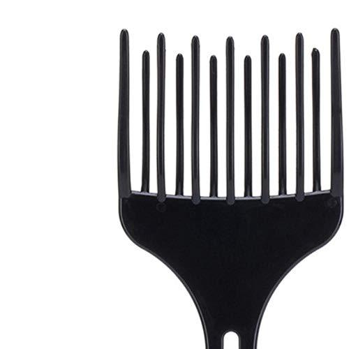 Noir En Plastique Peigne À Cheveux Insérer Afro Cheveux Pick Fourche Haute Basse Vitesse Peigne Cheveux Accessoires De Coiffure Styling Outil, grand