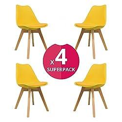Una soluzione di seduta elegante e sofisticata per la vita urbana alla moda. Scegli il tuo set ideale di quattro sedie della nostra gamma artigiana retrò. Modellato con linee pulite e semplici, questa collezione completerà un'estetica di design di bu...