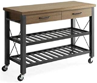 Anya Nana Small Kitchen Cart Island Console Table Rustic Utility Stand Storage Drawer Storage