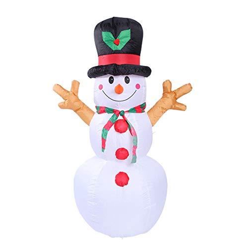 Eternitry KILLYSUFUY 1.6 m/5.25 pies Navidad inflable muñeco de nieve inflable patio decoraciones Navidad muñeco de nieve adornos inflable muñeco de nieve regalos inflables
