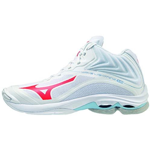 Mizuno Wave Lightning Z6 Mid, Zapatillas de vóleibol Mujer, Blanco Ignitionr Bluebell, 36.5 EU