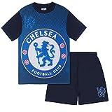 Chelsea FC - Pijama corto para niño - Producto oficial - Azul - Azul marino - 12-13 años