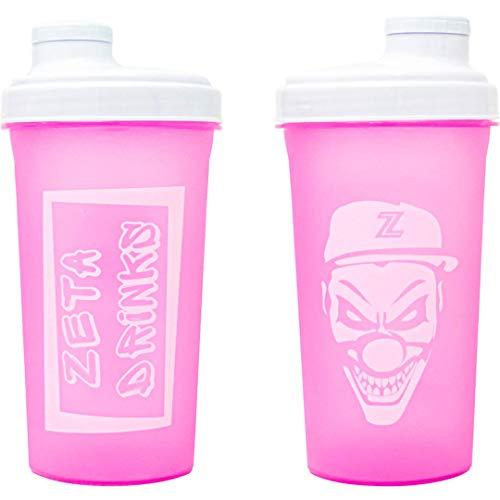 ZETA DRINKS SHAKER Botella de agua mezcladora de bebidas energéticas y de proteínas Con tapa antigoteo 700ml | 1 UNIDAD (Rosa)